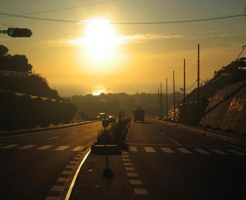 朝焼けの鹿島灘