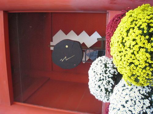 鹿島神宮の大門の裏側にある置物